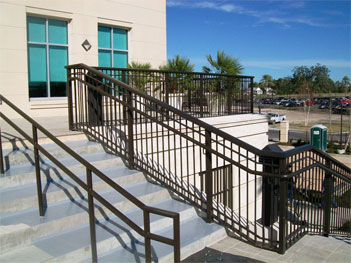 Commercial Railings & Commercial Plaza Handrails